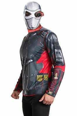 with Mask Pants Eyepiece Suicide Squad Deluxe Deadshot Adult Halloween Costume