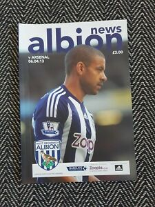 West-Brom-Bromwich-v-Arsenal-2013-Programme-6-4-13-FREE-UK-DELIVERY-LAST-ONE