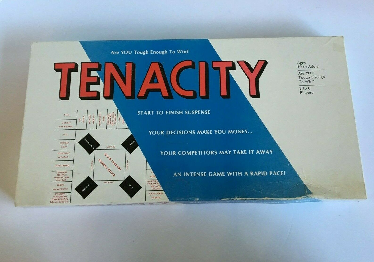 Tenacity Board Game Business Vintage Alexis Productions Complete Age 10 to Adult