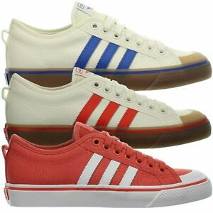 Anguila diferencia Año  Adidas Nizza Old White / Blue / Red Men's Canvas classic Shoes Sneaker NEW  | eBay