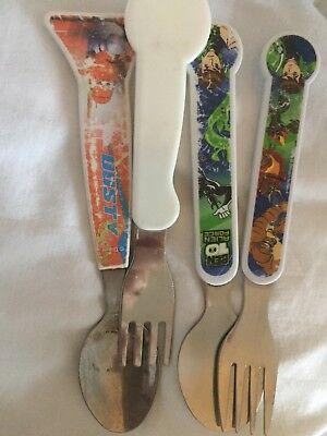 4 X Children Kids Knife And Fork Cars Ben 10