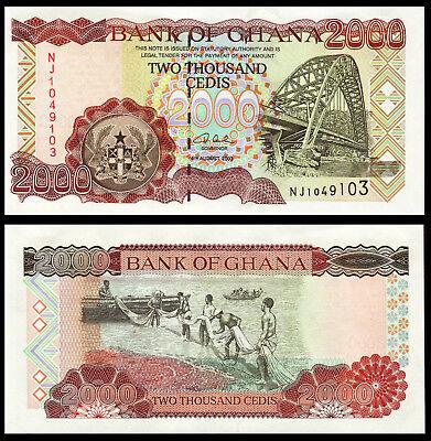 2000 Cedis 2003 Ghana // Africa Pick 33 33h UNC