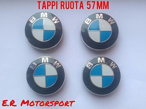 BMW KIT 4 TAPPI RUOTA 57 mm Blu Bianco BMW OLD MODELS