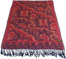 Red & Black Kyelong Design 2 Ply Reversible Shawl Pashmina Scarf CJ Apparel NEW