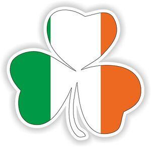 Detalles de Trébol Irlandés 3 hojas con Eire Irlanda Bandera Adhesivo para  coche de parachoques Locker Tablet- ver título original