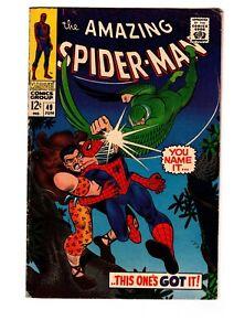 Amazing-Spider-Man-49-VG-4-0-1-Book-Vulture-Kraven-Stan-Lee-amp-John-Romtia