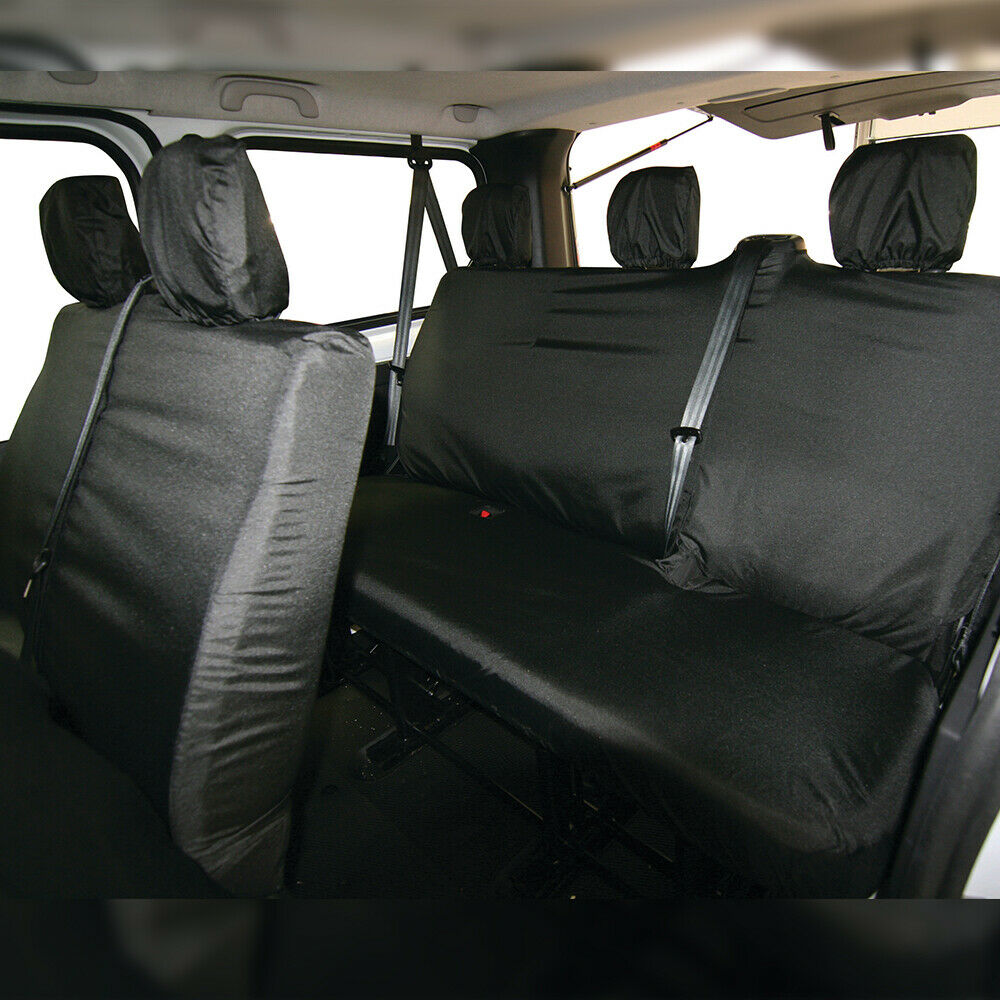Vauxhall Vivaro II Bus 9 Seats Double Bench Not Divided Measure Covers 2014-2019