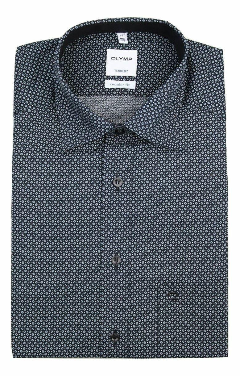 Black Geometric Spread Collar