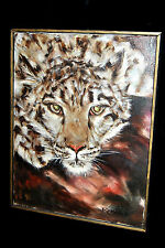 "Vintage  OIL ON CANVAS PAINTING ""Tiger"" Signed- Rossi- 16"" x 12"" NO RESERVE!!!"