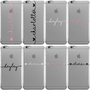 Personalised Handwritten Name See Through Clear Phone Case For Apple