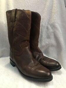 Justin Damens's Braun Leder Long Cowboy Stiefel Größe 6.5       e80098