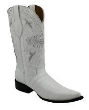 Men's Ranch Roper Crocodile Alligator Belly Western Cowboy Boots