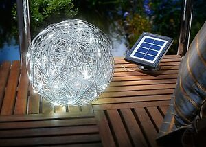 25cm LED Solar Draht Leuchte Kugel Leuchte Garten Lampe Außen ...