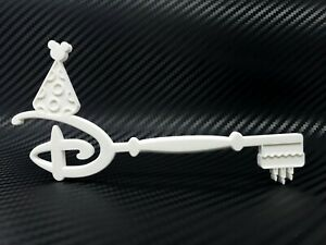 Disney-Happy-Birthday-Key-Accurate-Scale-High-Detail-3D-Print-Custom-White