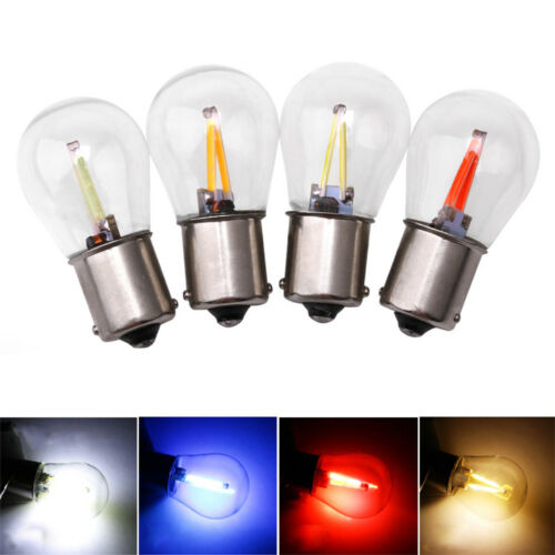 12V-24V DRL 1156 BA15S COB Turn Signal Car Filament Light LED Reversing Bulbs