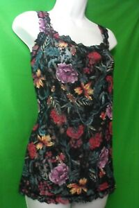 NEW-HANKY-PANKY-8W4254-MOODY-BLOOMS-FLORAL-MADE-IN-USA-LACE-CAMISOLE-XL