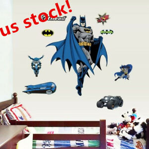 US-SHIP-Batman-Removable-Wall-Sticker-Vinyl-Mural-Kids-Bedroom-Wall-Home-Decor