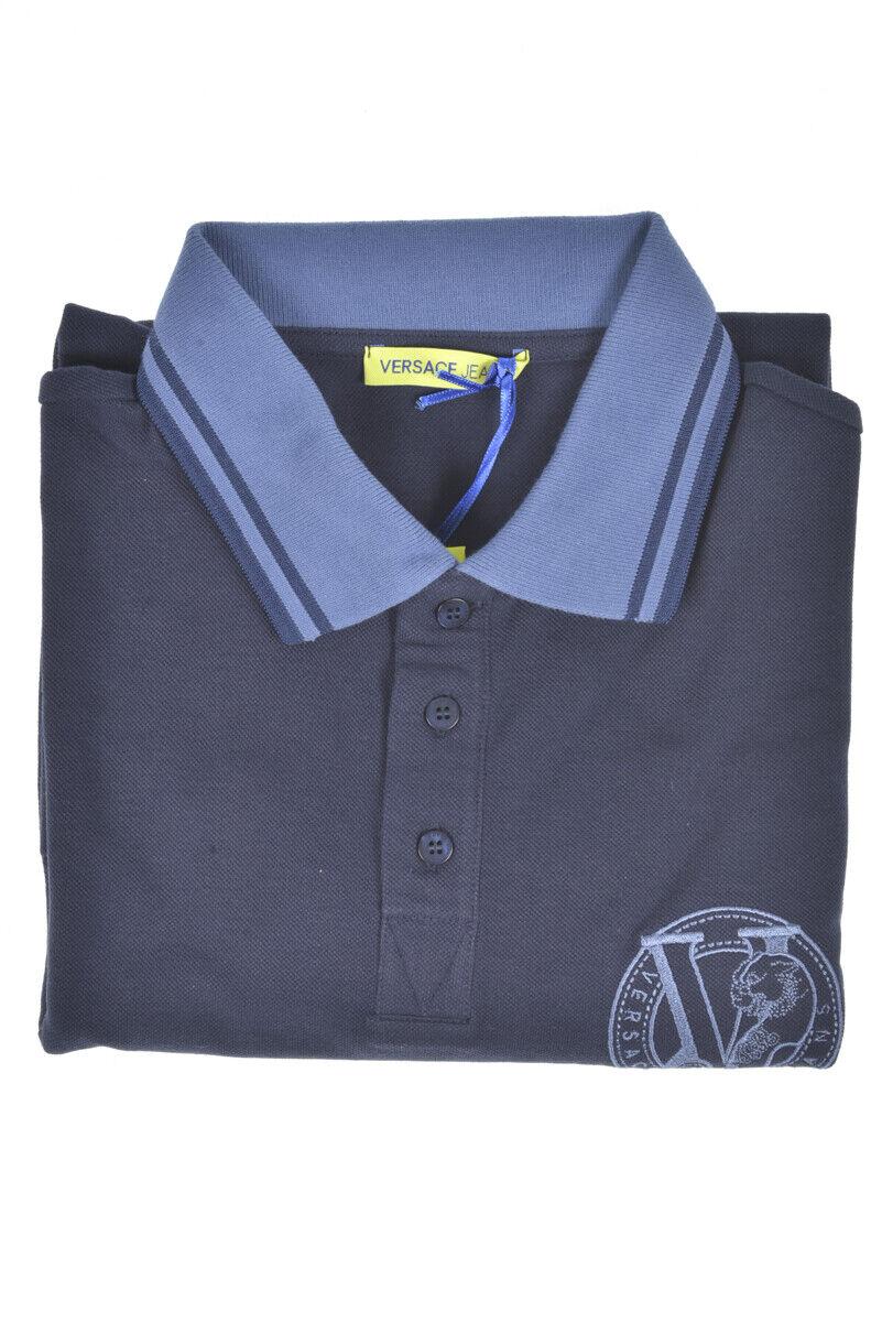 e48798de3e Polo Versace Jeans Jeans Jeans Shirt REGULAR Cotone Uomo Blu ...