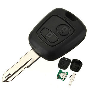 peugeot 206 key fob case and uncut blade new replacement. Black Bedroom Furniture Sets. Home Design Ideas