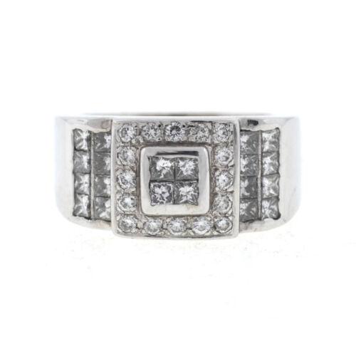 18k White Gold Diamond Men's Ring
