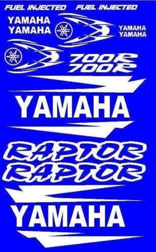 Stickers Decals Graphics Kit for Yamaha Raptor 700 Fender Hood Tank Tank Emblems