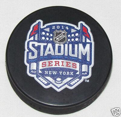 2014 STADIUM SERIES PUCK Outdoor Game New York Rangers Islanders Devils Yankee