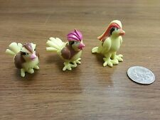1.5~2inches pokemon plastic figure set(lot)of Pidgey Pidgeotto Pidgeot