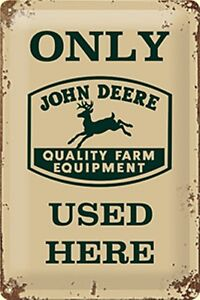 Placa-Metal-John-Deere-Only-Used-Here