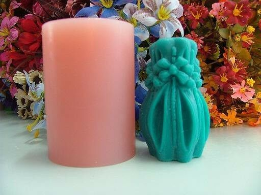 3d Floral Vase Candle Mold Soap Mould Flexible Silicone Handmade