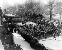 8x10 World War I Photo: Review Of Original 15th Infantry In York City