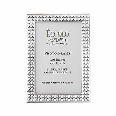 Eccolo Silver Plate Frame, 5 by 7-Inch, Pyramids for sale