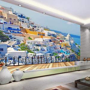 3D bluee Sky White House 99 Wallpaper Mural Paper Wall Print Wallpaper Murals UK