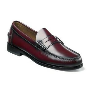 1ac3117bbac Image is loading Berkley-Florsheim-Mens-Shoes-Burgundy-Leather-Penny-Loafer-