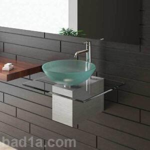 Das Bild Wird Geladen ALPENBERGER Designer Waschtisch Waschbecken Edelstahl  Glas Gaeste WC