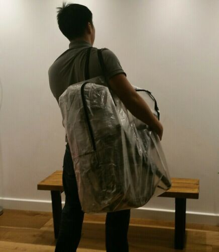 travel storage fold flat to A4 carry Brompton Bike woven pvc carrier zip bag
