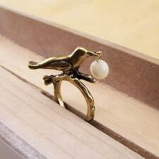 CUTE BIRD AND CATS EYE DROP RING by FOREVER 21 - SIZE 6 - FREE UK P&P.....CG0507