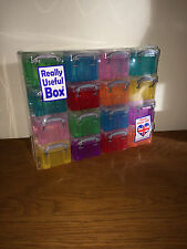 Really Useful 16 x 0.14L Multi-Colour Organiser Box Arts Crafts Personal Storage