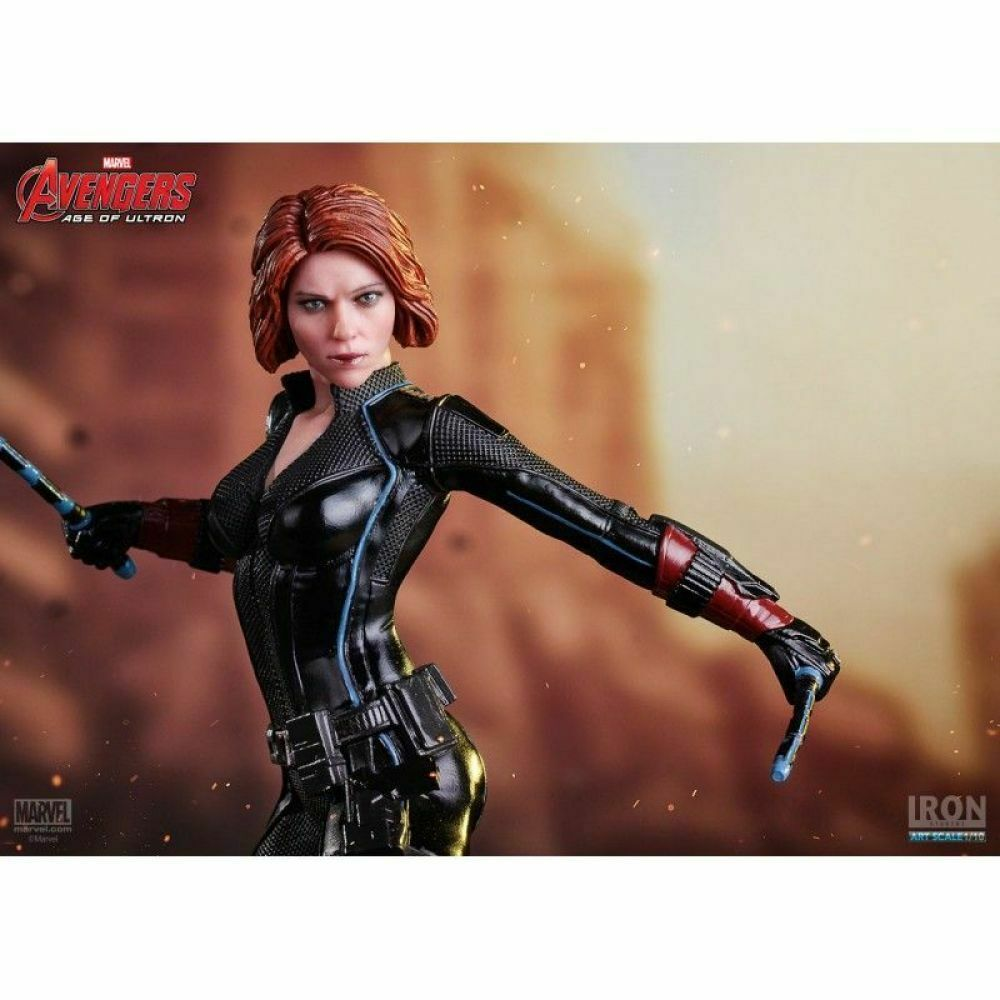Black Widow Scarlett Johansson Avengers AOU 1/10 Scale Iron Studios on eBay thumbnail