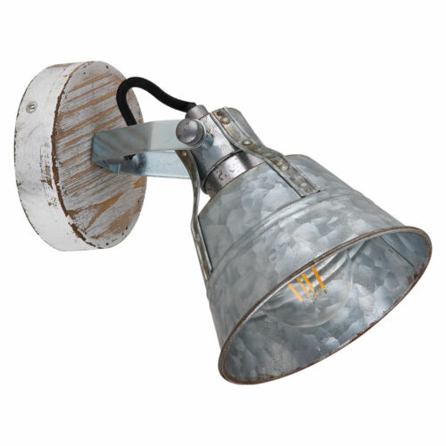 LED Vintage Wand Leuchte Spot verstellbar Gäste Zimmer Strahler Lampe silber