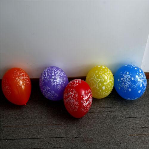 10pcs Latex Mehrfarben Ballons happy Birthday Party Luftballons aufblasbare DeAB