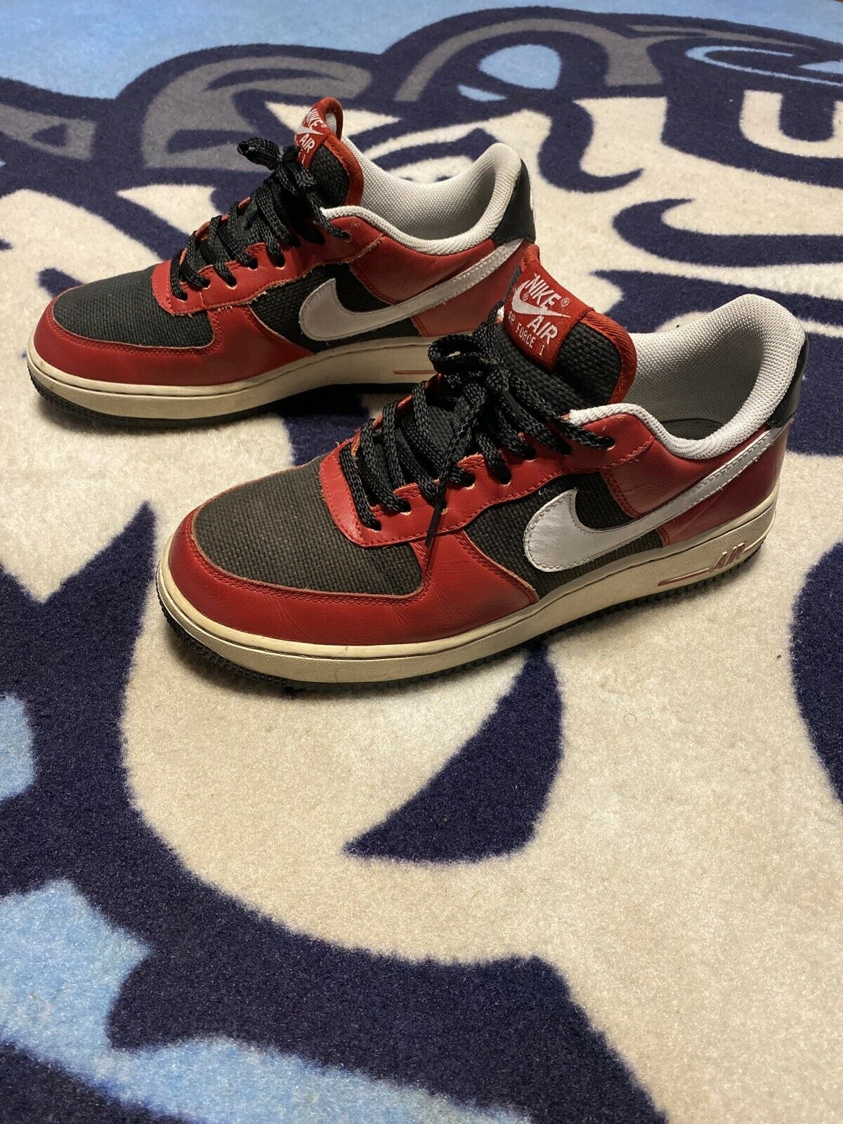 Nike Air Force 1 One Low Top Shoes Red
