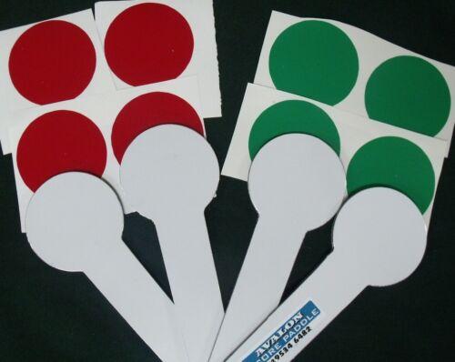 Scoring Bats lawn bowls score paddles Sturdy Construction 2 colour stickers incl