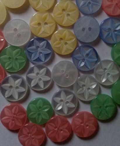 Moyen Star Bébé boutons en taille 26 16 mm idéal pour enfants//CRAFT//Knit Wear