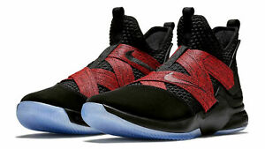 edabfd7b73c2 Nike Lebron Soldier XII 12 Men s Basketball Shoes Black Red AO2609 ...