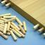 Hardwood chevilles 8 mm en bois chanfreiné Cannelé Broches Bois Hêtre Goujon costumes IKEA