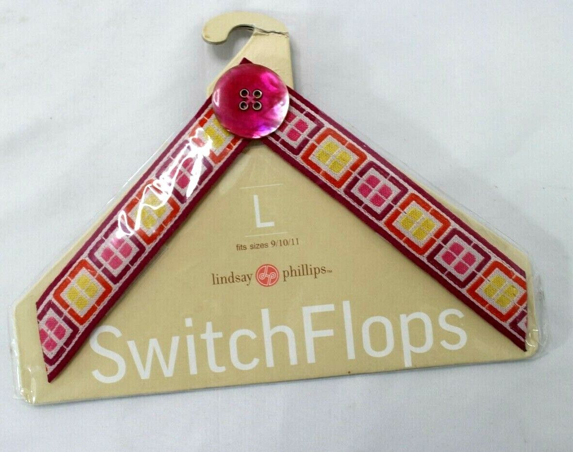 """Lindsay Phillips """"Morgan"""" SwitchFlops Interchangeable Straps Size Large New"""