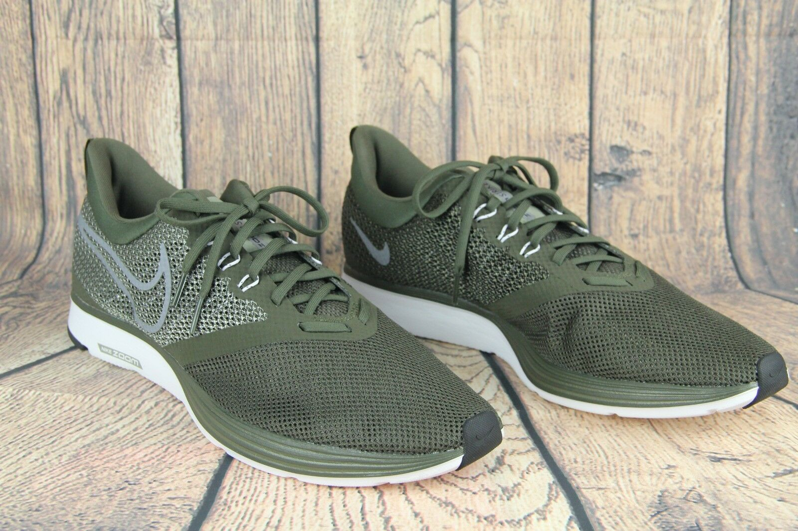 f37bfe030e856 Nike Zoom Strike Men Running shoes Cargo Khaki Khaki Khaki Green Grey White  AJ0189-300 ...