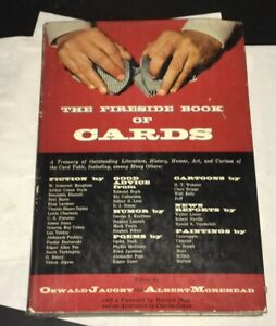 Fireside-Book-Of-Cards-Oswald-Jacoby-Albert-Morehead-1957-1st-Ed-Poker-Gambling