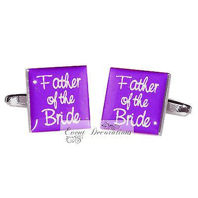Violet Boutons de manchette /& Chaussettes Set Groom Meilleure Man Usher etc-idéal pour mariage!