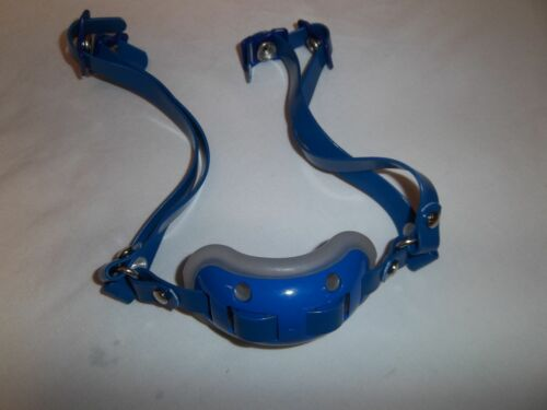 ADAMS PRO25D YOUTH HIGH HOOK-UP FOOTBALL HELMET CHIN STRAP ROYAL WITH GEL PAD